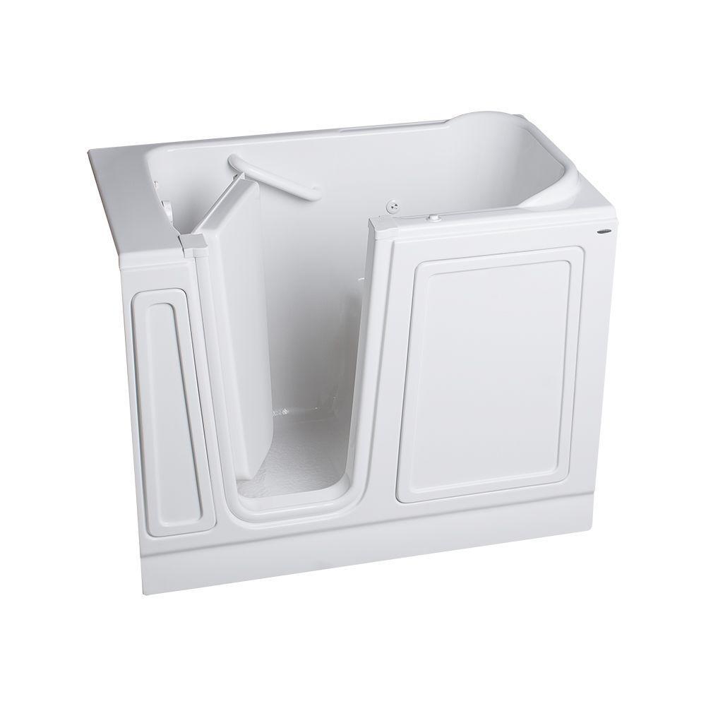 American Standard Acrylic Standard Series 48 in. x 28 in. Left Hand Walk-In Whirlpool Tub in White