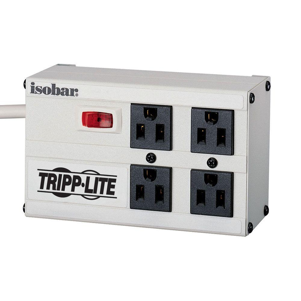 tripp lite isobar 4 6 ft cord with 4 outlet strip isobar4 the rh homedepot com