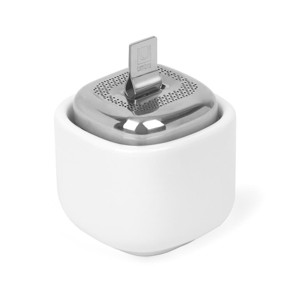 Umbra Cutea 1/8 White/ Nickel Tea Infuser Merchandiser