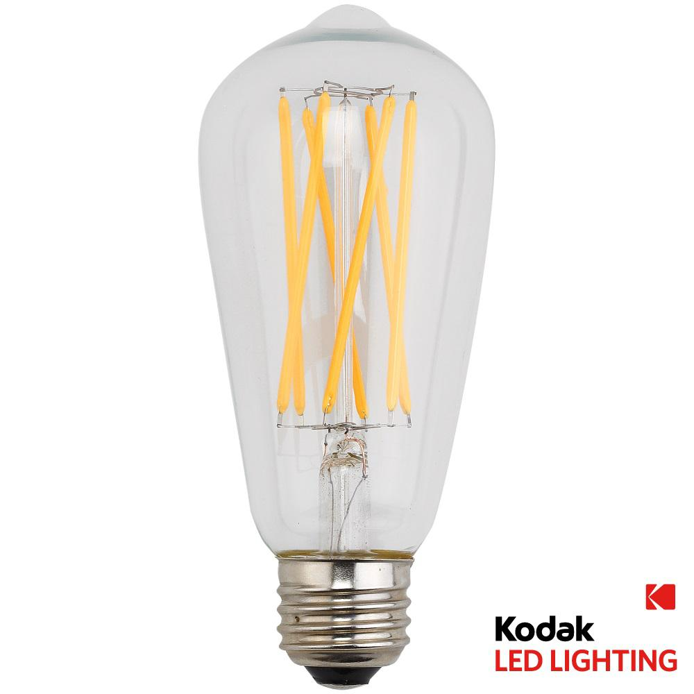 kodak 90w equivalent warm white vintage filament st64 dimmable led light bulb 67026 the home depot. Black Bedroom Furniture Sets. Home Design Ideas