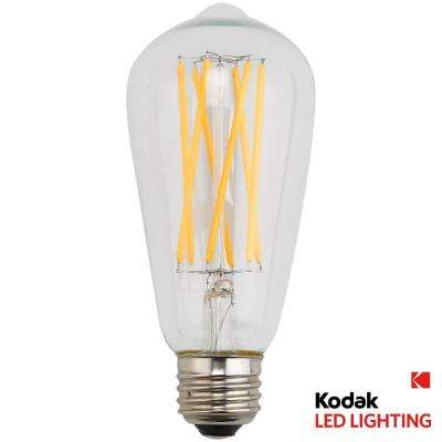 90W Equivalent Warm White Vintage Filament ST64 Dimmable LED Light Bulb