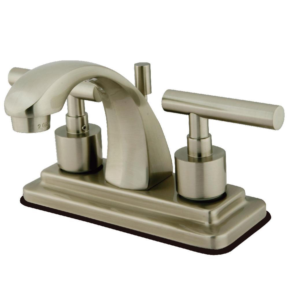 Manhattan 4 in. Centerset 2-Handle Bathroom Faucet in Brushed Nickel