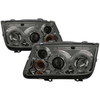 Volkswagen Jetta 99-05 Projector Headlight(Doesn't fit the Jetta 2.5)-LED Halo-Smoke-High H1 (Included)-Low H1(Included)
