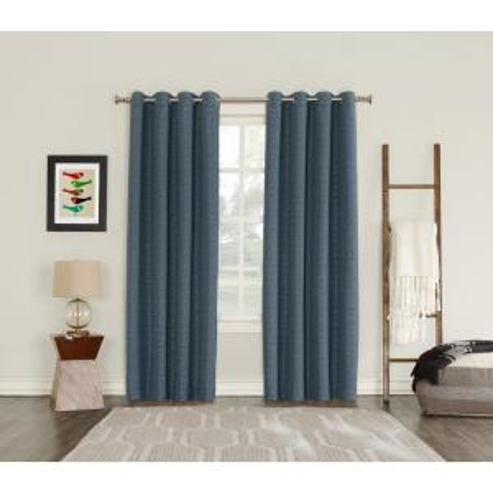 Sun Zero Talin Indigo Lined Blackout Grommet Curtain - 52 inch W x 84 inch L by Sun Zero
