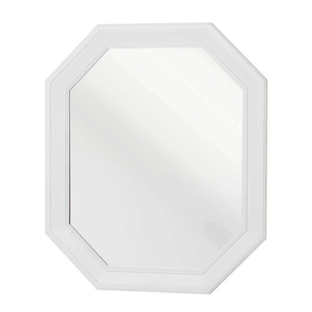 Home Decorators Collection Lamport 28 in. L x 24 in. W Wall Mirror in White