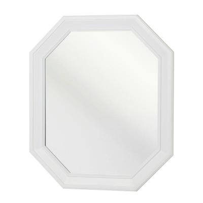 Lamport 28 in. L x 24 in. W Wall Mirror in White