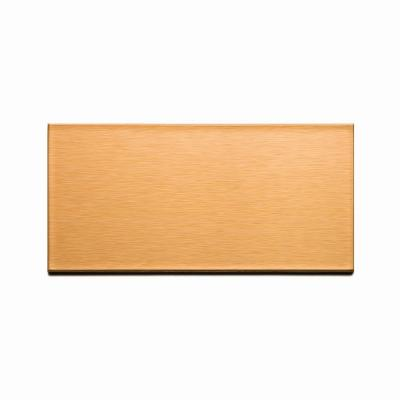 Long Grain 6 in. x 3 in. Brushed Copper Metal Decorative Wall Tile (8-Pack)