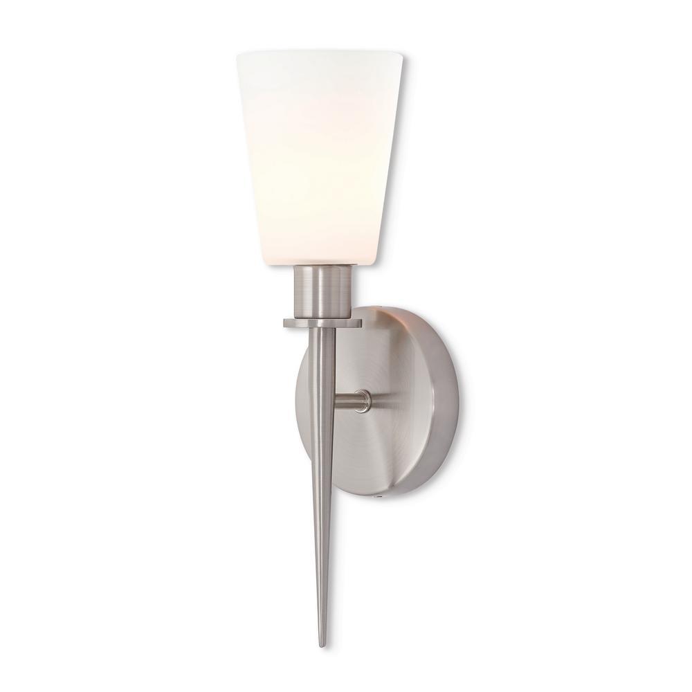 quality design dc634 63333 Livex Lighting Witten 1 Light Brushed Nickel ADA Wall Sconce
