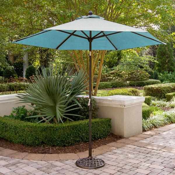 Traditions 11 ft. Table Umbrella in Blue