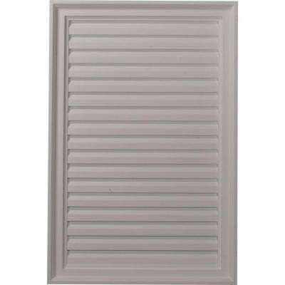 2 in. x 24 in. x 36 in. Decorative Vertical Gable Louver Vent