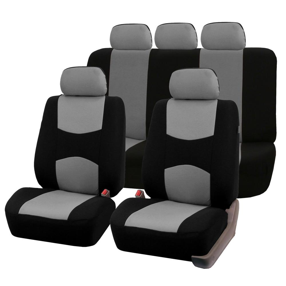 FH Group Flat Cloth 47 in  x 23 in  x 1 in  Multi-functional Full Set Seat  Covers