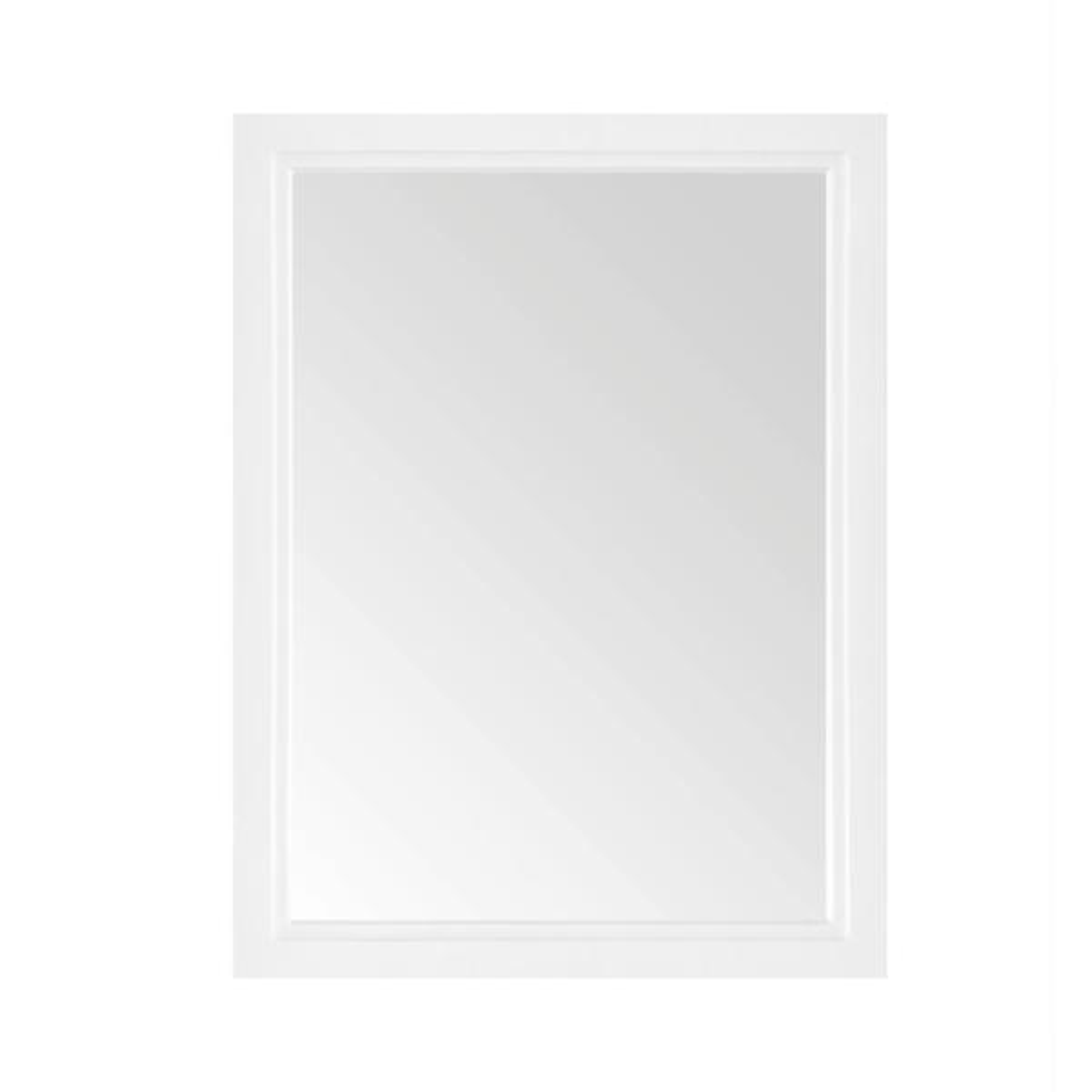 24.00 in. W x 32.00 in. H Framed Rectangular  Bathroom Vanity Mirror in White