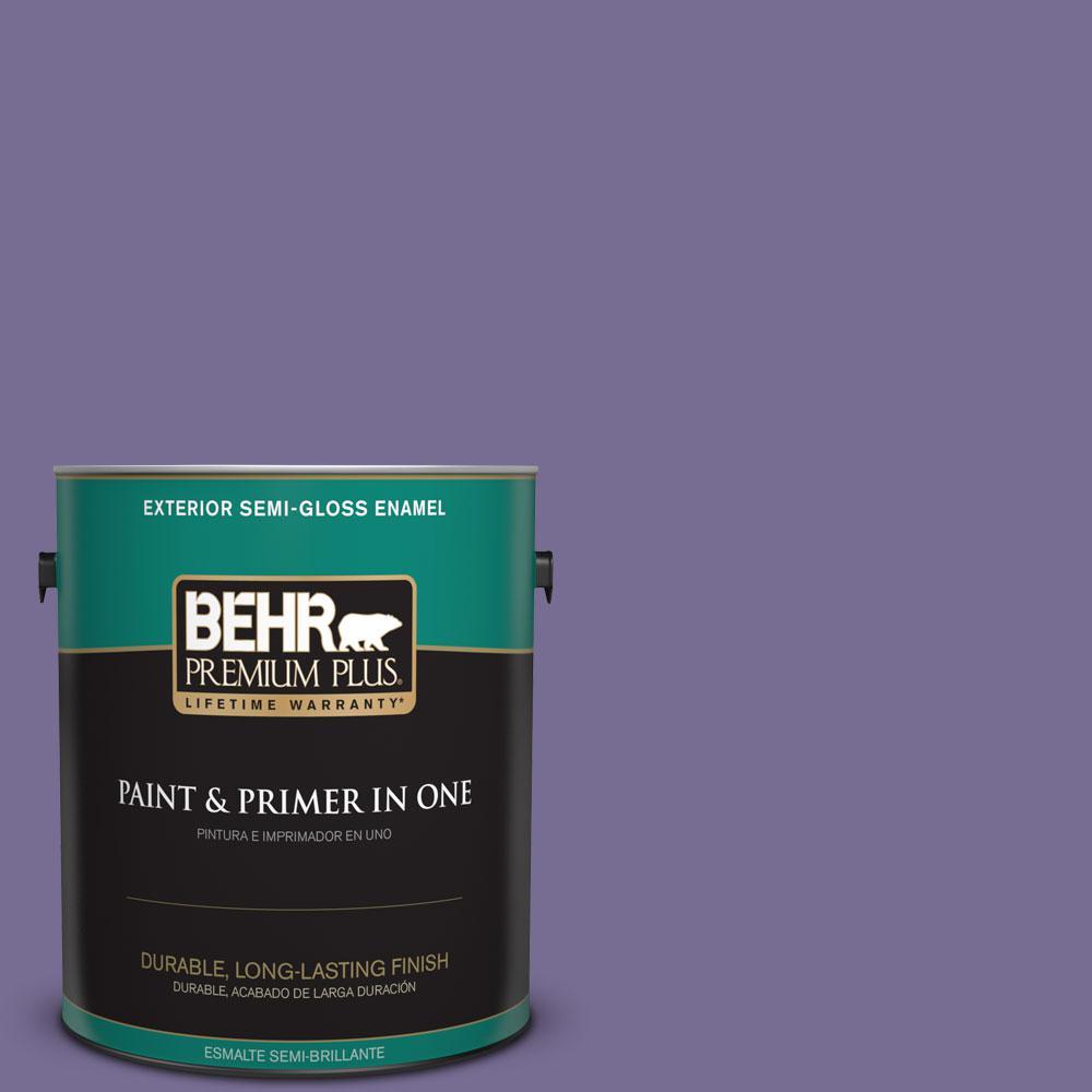 1-gal. #650D-6 Purple Silhouette Semi-Gloss Enamel Exterior Paint
