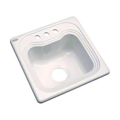 Oxford Drop-In Acrylic 16 in. 3-Hole Single Bowl Bar Sink in Almond