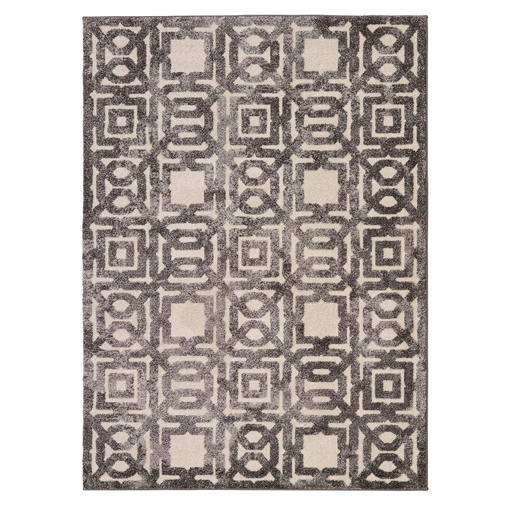 Urban collection contemporary sculpted effect geometric for Geometric print area rugs