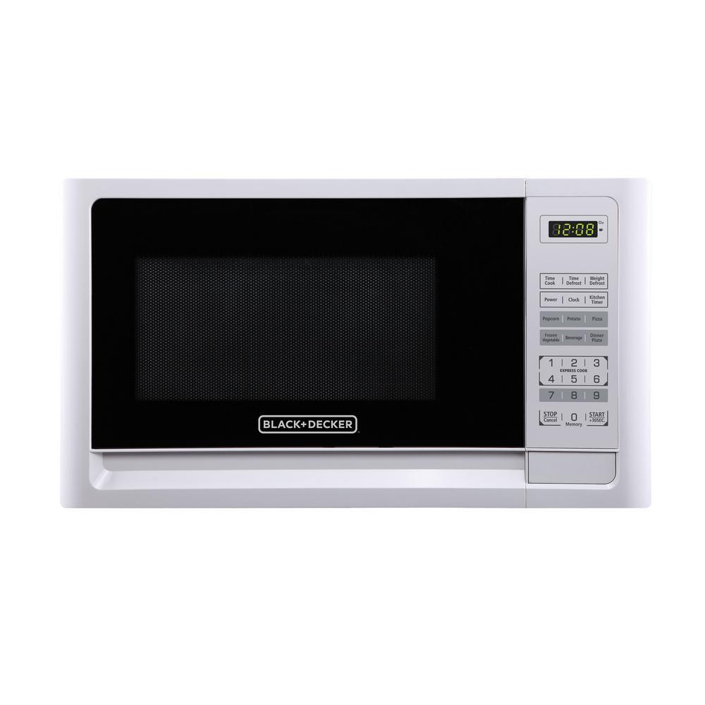 0.9 cu. ft. Countertop Digital Microwave in White