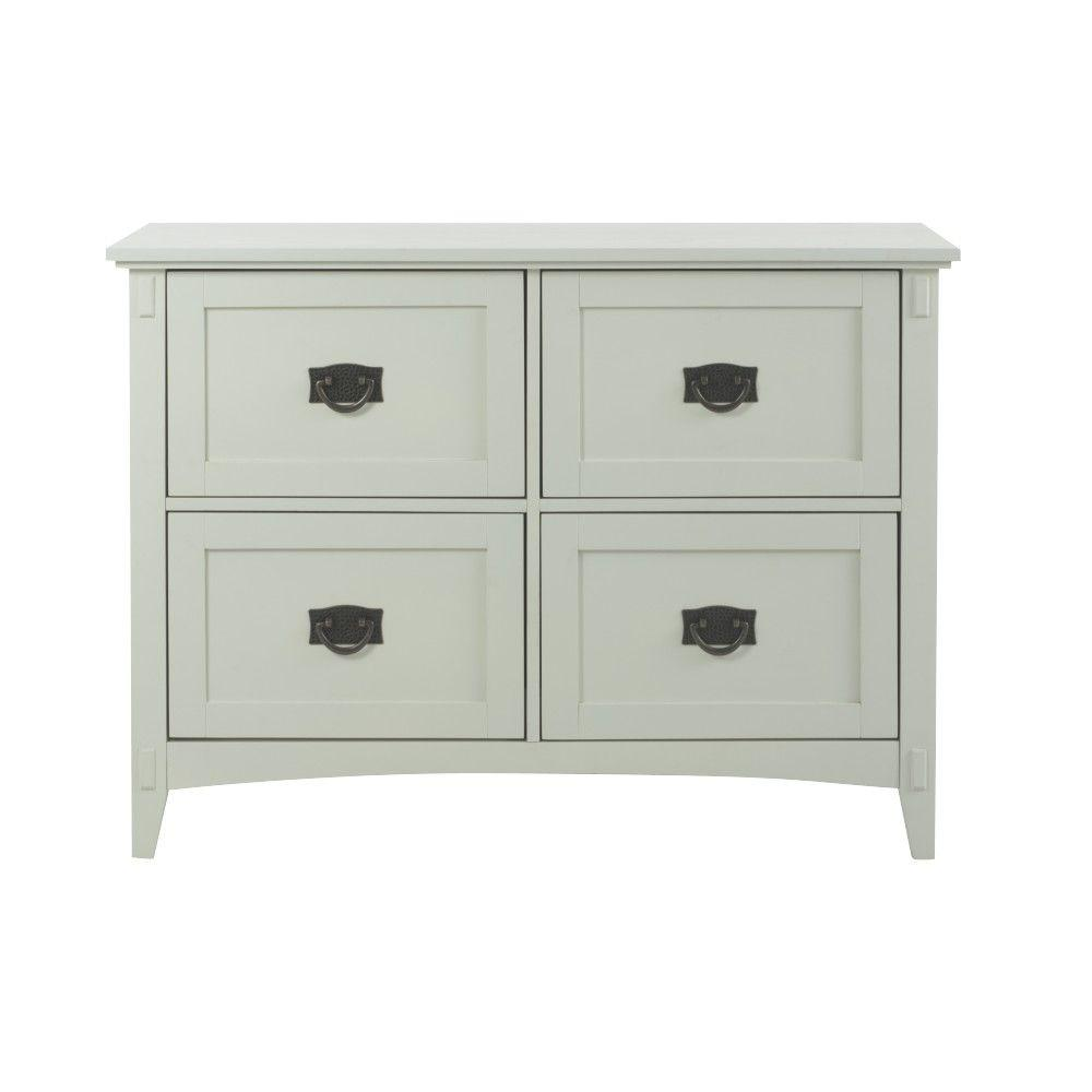 Home Decorators Collection Artisan White File Cabinet 9223800410   The Home  Depot