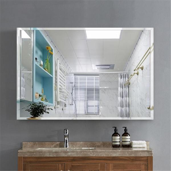 Neu Type Rectangle Simple Large Beveled Glass Wall Mounted Hanging Vanity Mirror In Bathroom Jj00504zzz The Home Depot