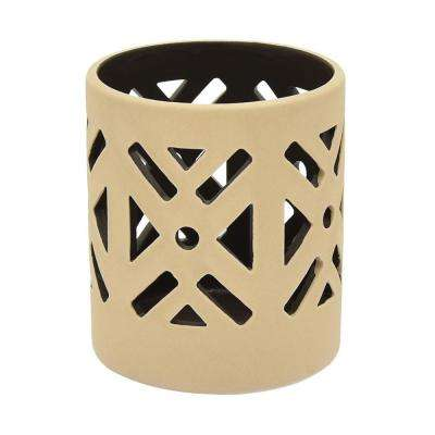 4.25 in. Brown Ceramic T Holder