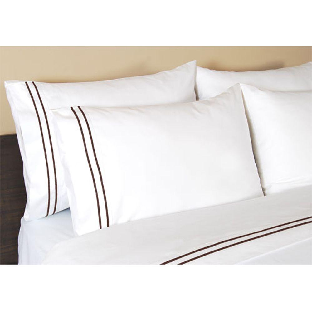Home Decorators Collection Embroidered Pinecone Path Standard Pillowcases