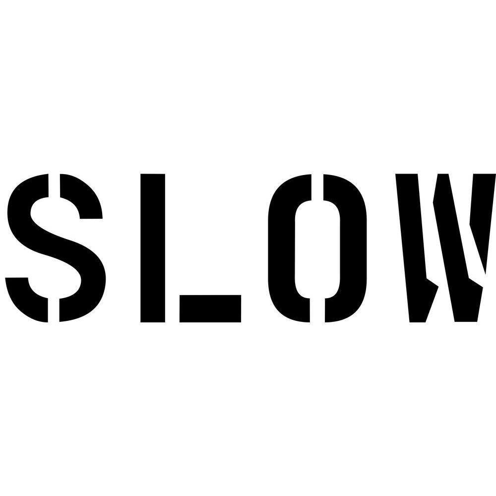 24 in. Slow Stencil