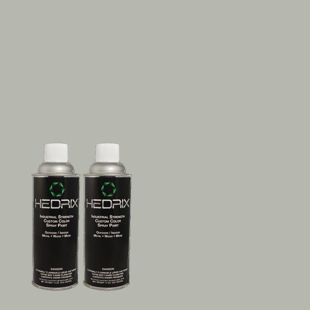 Hedrix 11 oz. Match of 730F-4 Flint Smoke Gloss Custom Spray Paint (2-Pack)