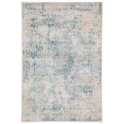 Cirque Light Gray 2 ft. 6 in. x 8 ft. Medallion Runner Rug