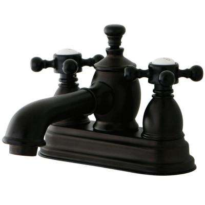 English Country 4 in. Centerset 2-Handle Bathroom Faucet in Oil Rubbed Bronze