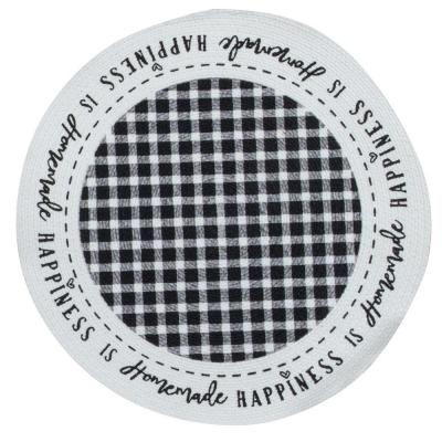 Farmhouse 14.5 in x 14.5 in. Black and White Braided Placemats (Set of 4)