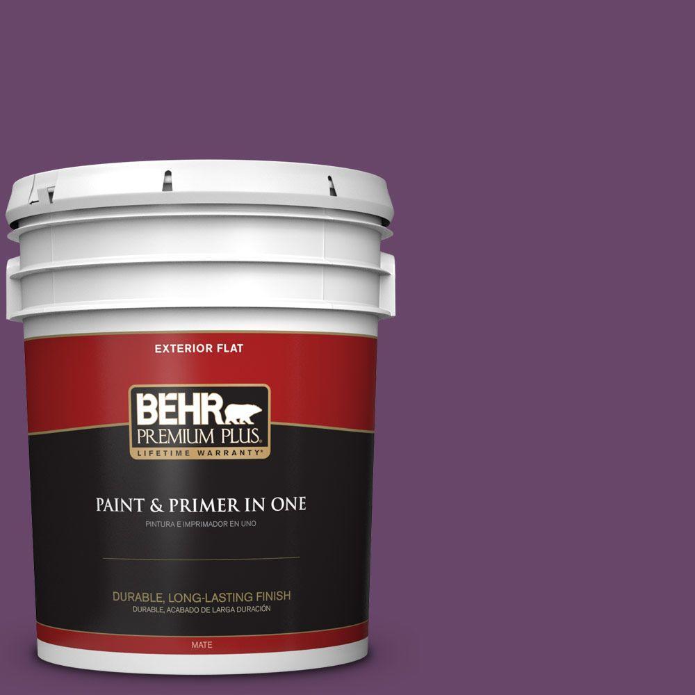 BEHR Premium Plus 5-gal. #P100-7 Sultana Flat Exterior Paint