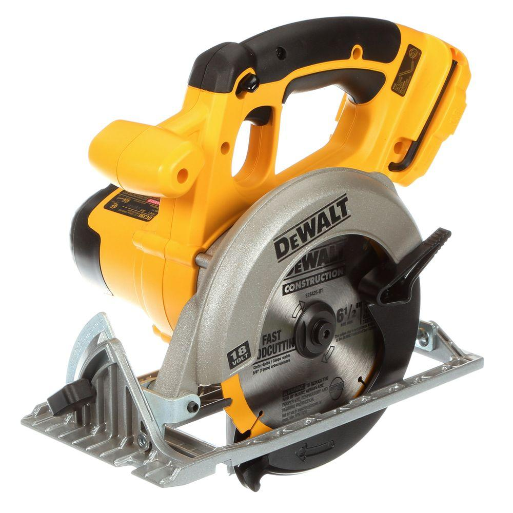 Dewalt 18 volt nicd cordless 6 12 in 165 mm circular saw tool dewalt 18 volt nicd cordless 6 12 in 165 mm circular saw tool only dc390b the home depot greentooth Image collections