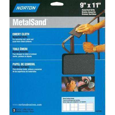 MetalSand 9 in. x 11 in. F/M/C-Grit Emery Cloth Set (3-Pack)