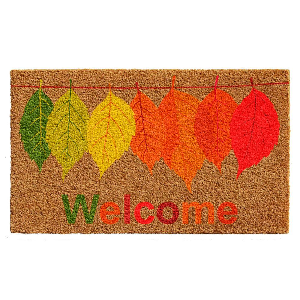 Home & More 17 in. x 29 in. Fall Colors Door Mat, Multi