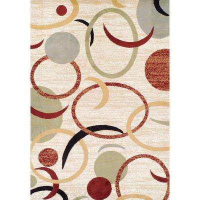 Ferrera Collection Circles Multi 5 ft. x 8 ft. Area Rug
