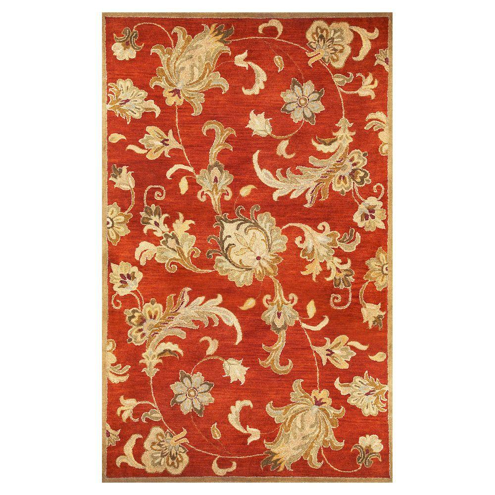 Kas Rugs Modern Traditions Rust 5 ft. x 8 ft. Area Rug-DISCONTINUED