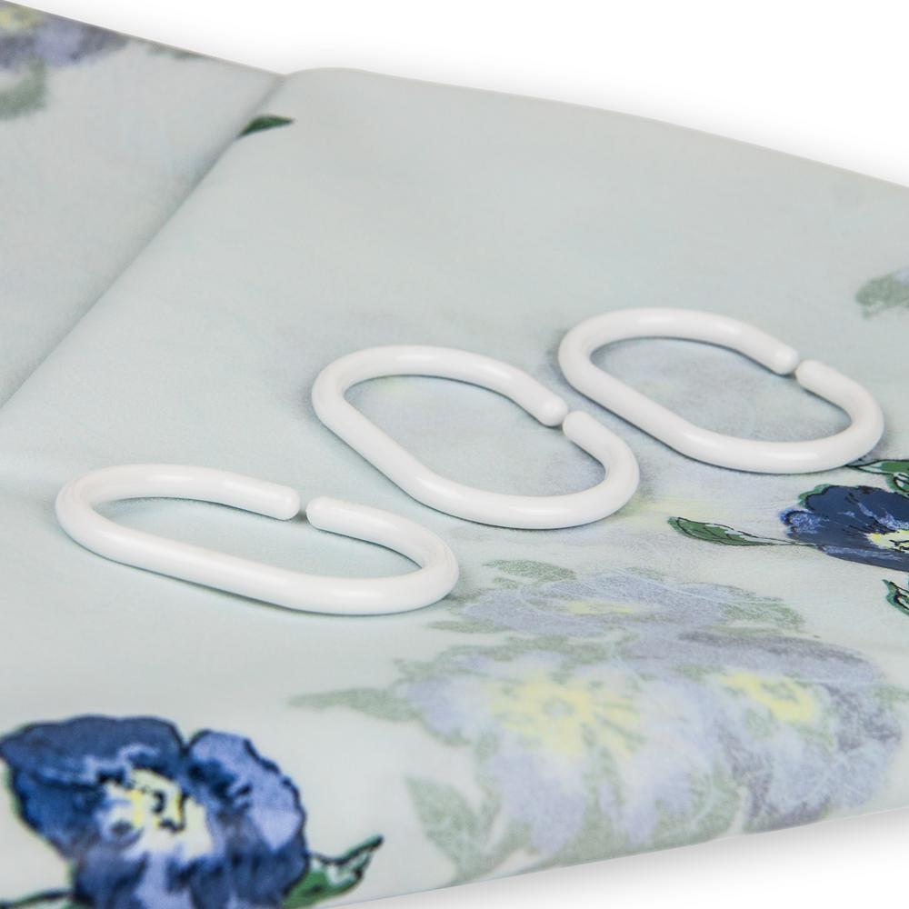 Rod Desyne 71 In X Blue Pastel Floral Shower Curtain BA