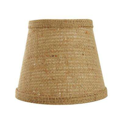 4 in. x 5.5 in. Natural Brown Lamp Shade