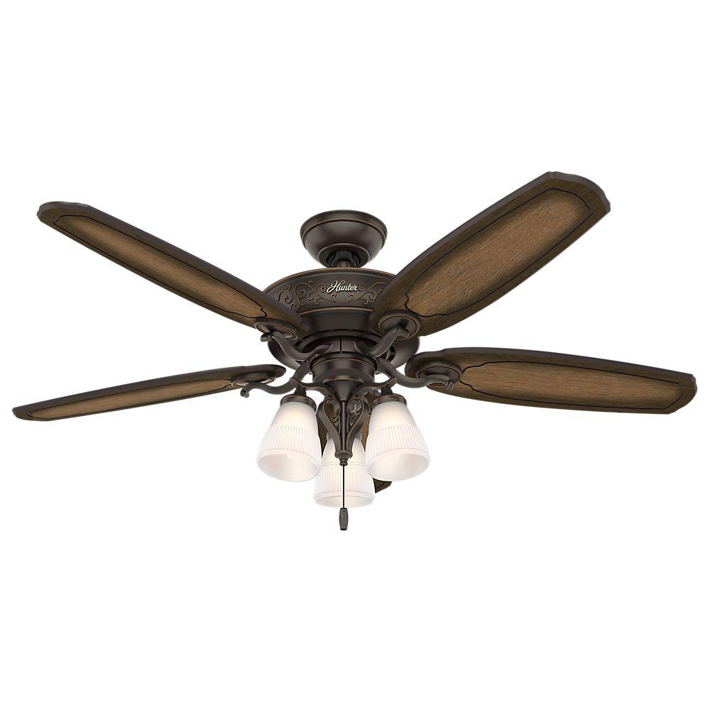 Osbourne 54 in. Indoor Onyx Bengal Bronze Ceiling Fan with Light