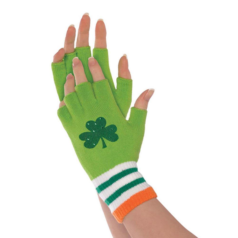 7256acf9104 Amscan St. Patrick s Day Fingerless Gloves (3-Pack)-399086 - The ...