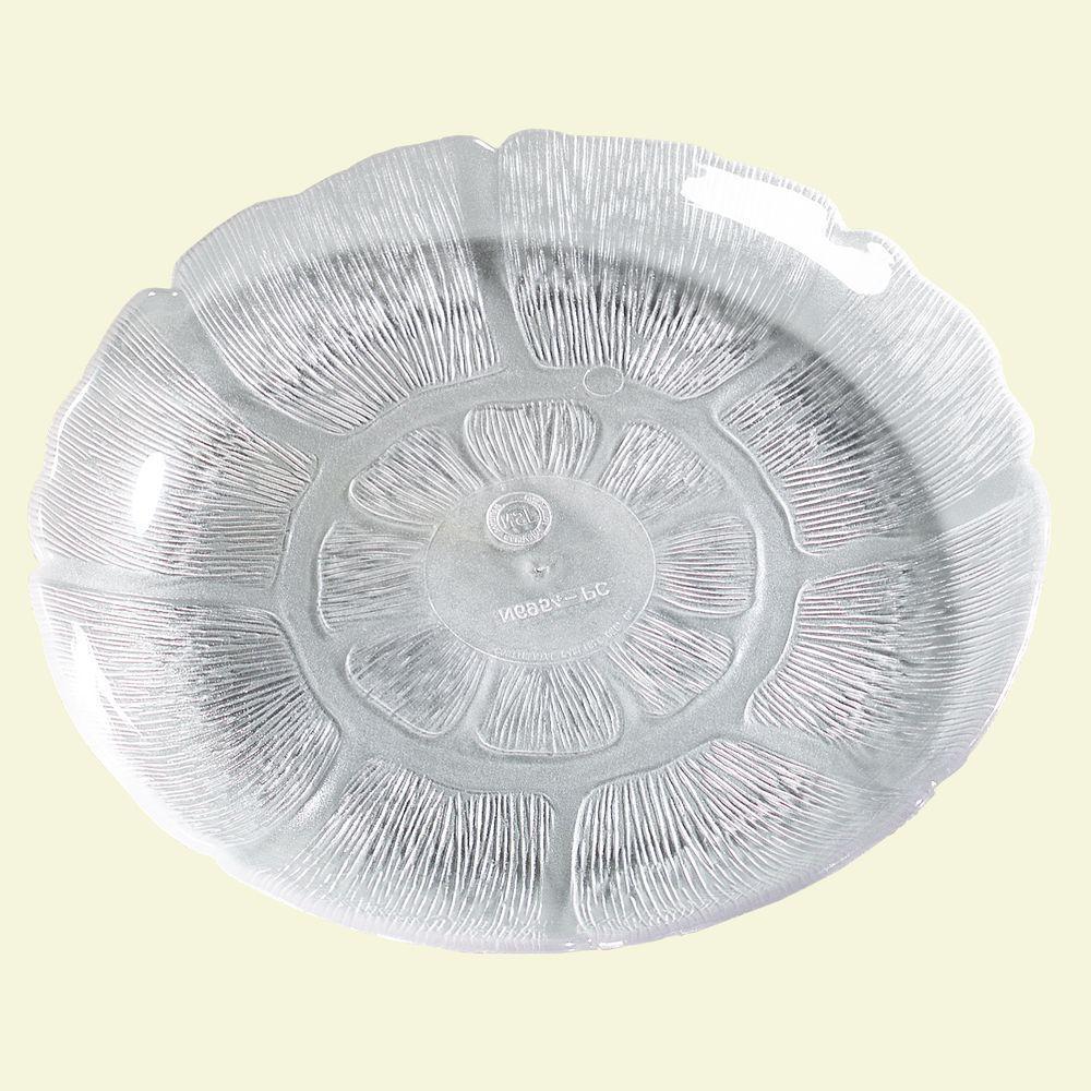 7.68 in. Diameter Petal Mist Dessert Plate in Clear (Case...