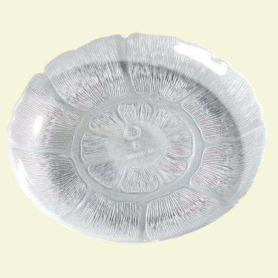 7.68 in. Diameter Petal Mist Dessert Plate in Clear (Case of 36)