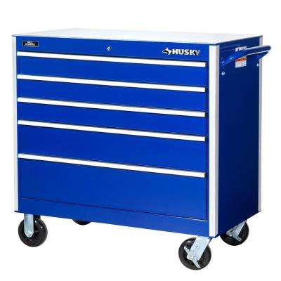 Heavy Duty 42 in. 5-Drawer Rolling Cabinet Tool Chest in Blue