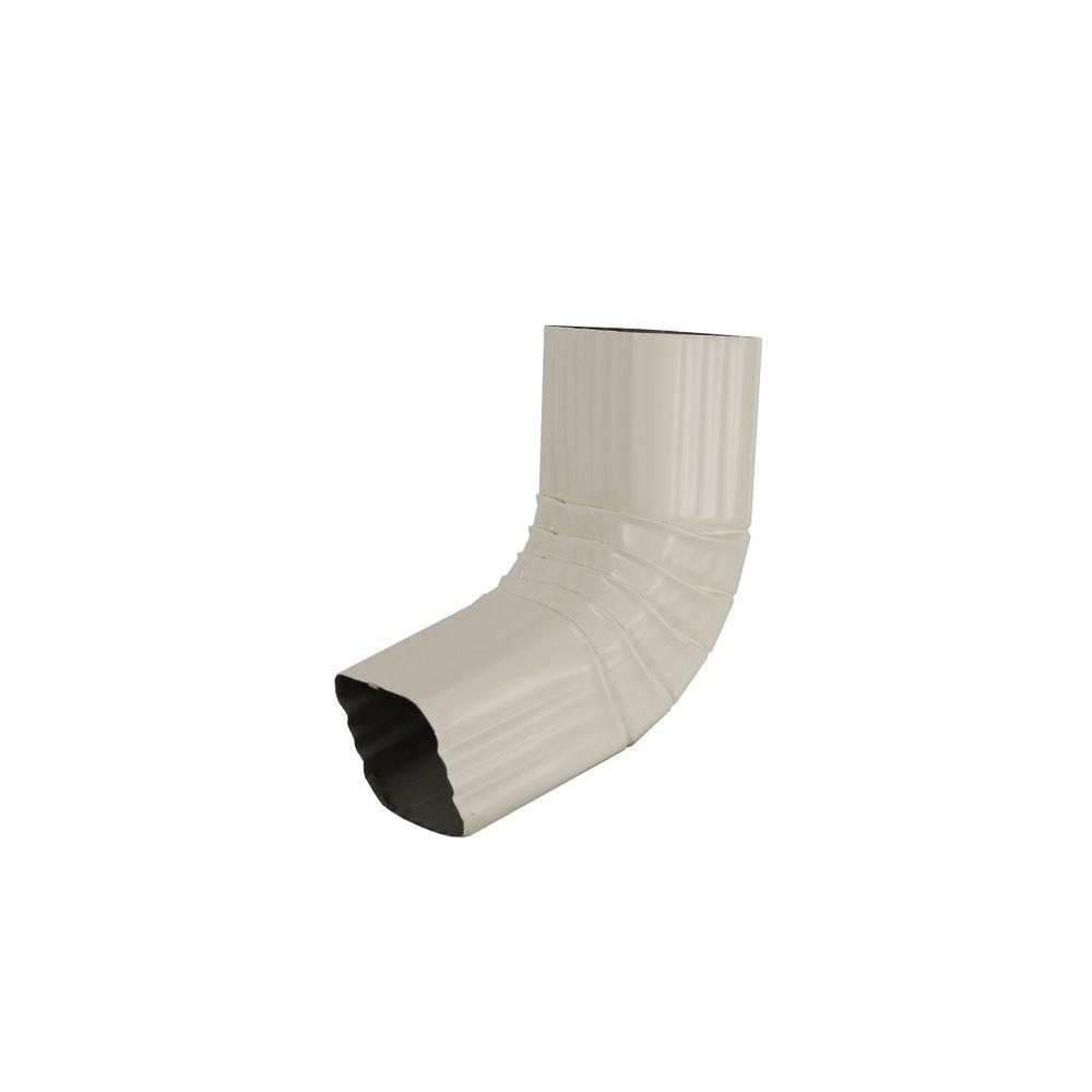 2 in. x 3 in. Bone Linen Aluminum Downspout A Elbow
