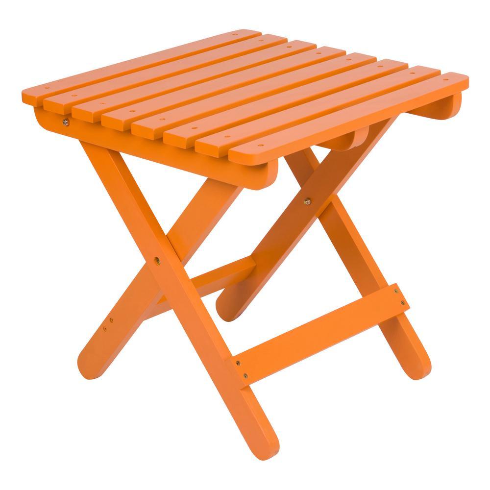 Adirondack Tangerine Square Wood Folding Table