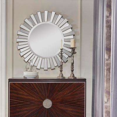 40in. W Sola Sunburst Accent Wall Mirror, Silver