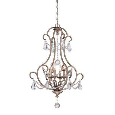 Gala Argent Silver 4-Light Interior Incandescent Hall and Foyer