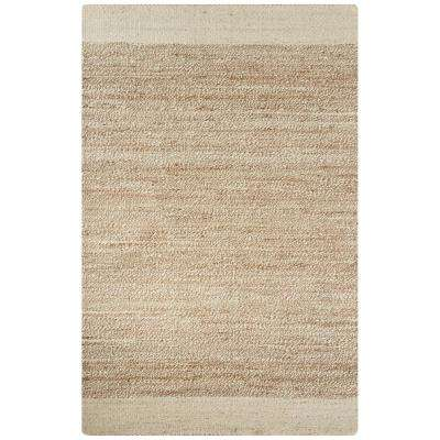 Natural Seedpearl 9 ft. x 12 ft. Borders Area Rug