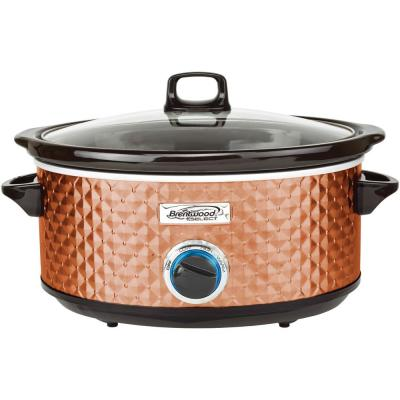 Diamond 7 Qt. Copper Slow Cooker with Tempered Glass Lid