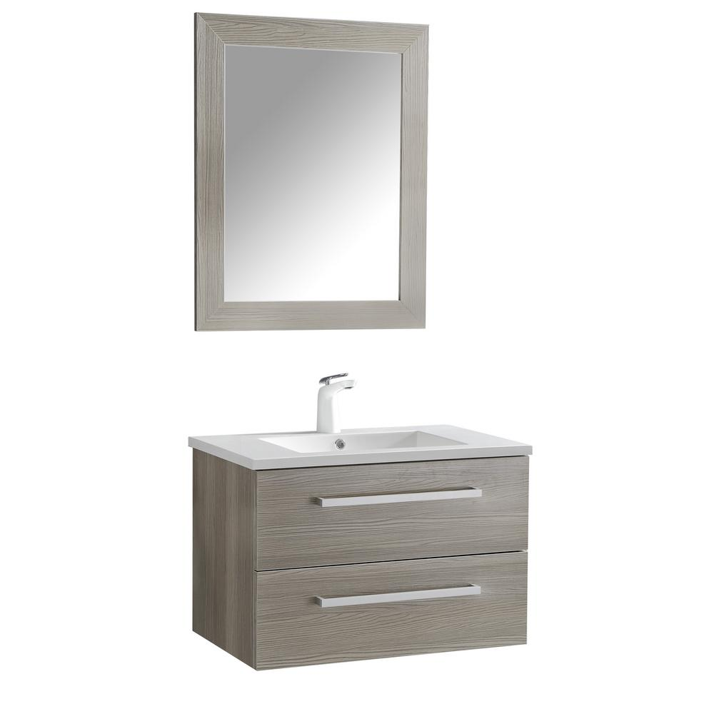 W x 20 in. H Bath Vanity in Rich Gray