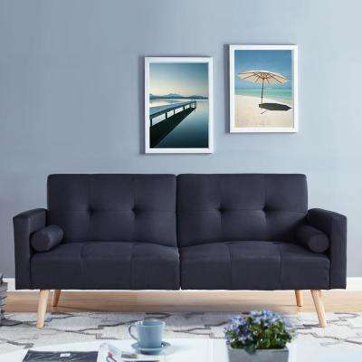 Montreal Black Convertible Sofa